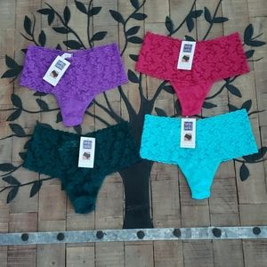 Hanky Panky Retro High Rise Thong Lot of 4 NWT New
